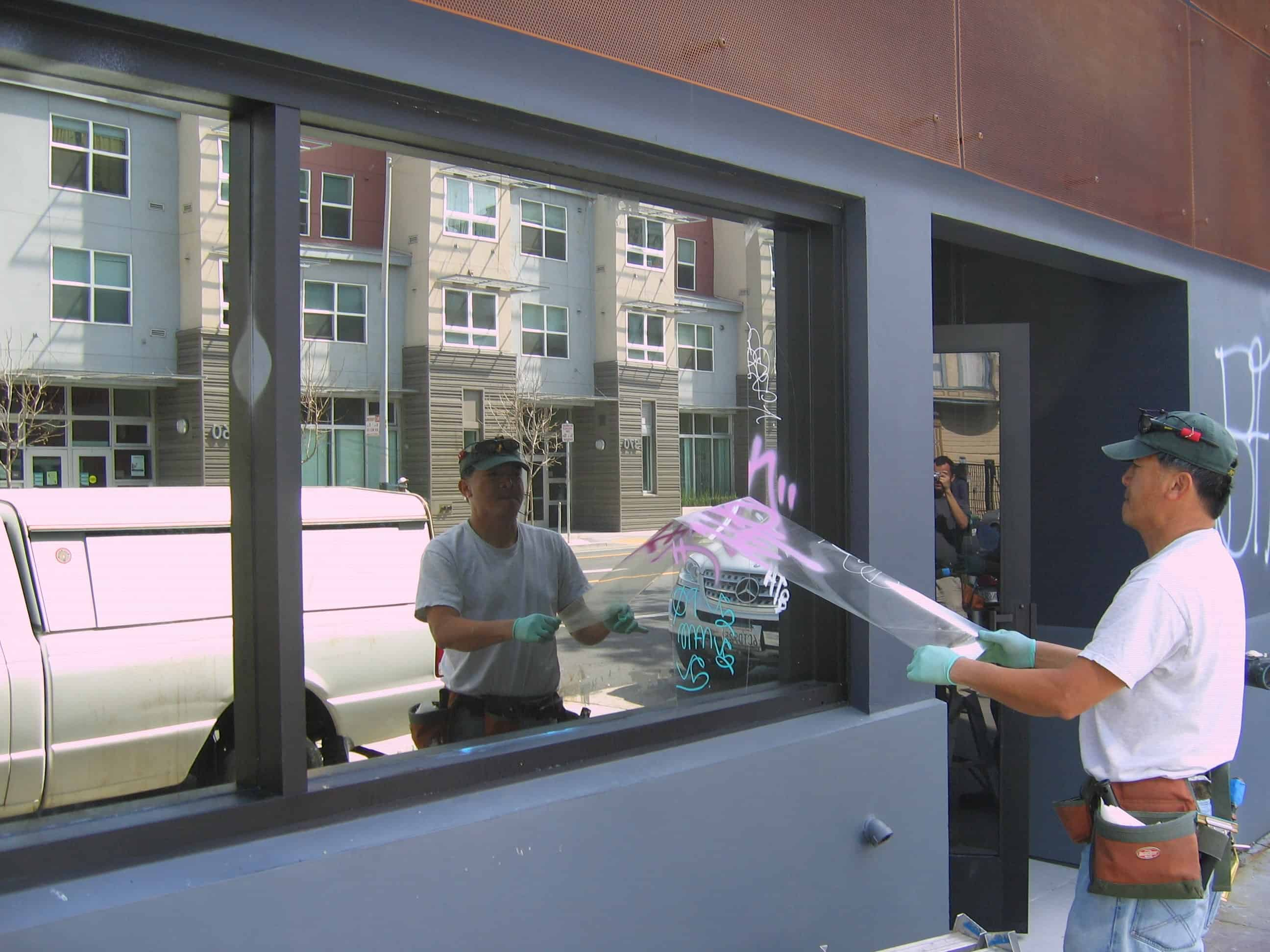 Anti Graffiti Window Film - image 009-min on https://skylightwindowfilms.com